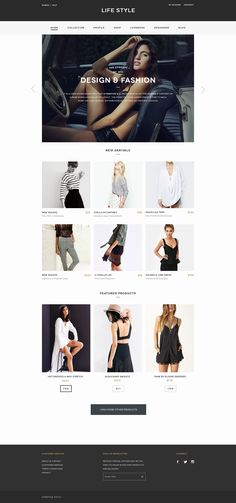 This site is clean cut and very simplistic which works in its favor. Products are showcased in the main section while the top and bottom are dedicated to their own tabs: Navigation and Contact.