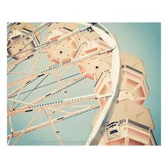 Under the Ferris Wheel 16x20 Fine Art Carnival Photography Print Retro... ❤ liked on Polyvore