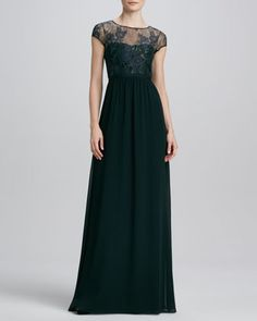 Lace Illusion Bust Gown  by Erin by Erin Fetherston at Neiman Marcus.