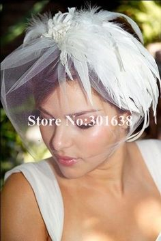CVB-03082 Hot sale color custom made wedding bridecage veil  face veil/hat on AliExpress.com. $17.00