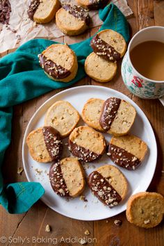 Toasted hazelnuts, vanilla, brown sugar, cinnamon, and milk chocolate take these EASY slice 'n' bake cookies up a notch!