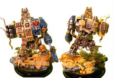 'Dark Angel' dreadnought[DeathWing librarian] front and back view