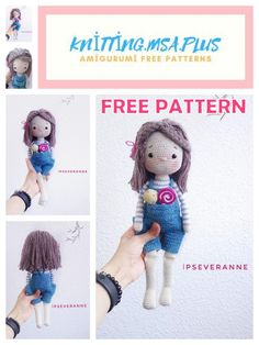 In this article, we are waiting for you amigurumi amanda doll free crochet pattern. Crochet Patterns Amigurumi, Amigurumi Doll, Crochet Dolls, Crochet Bunny, Free Crochet, Knit Crochet, Double Crochet Decrease, Yarn Tail, Doll Patterns
