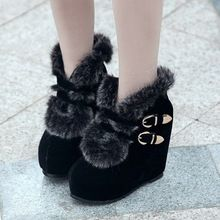 2013 women's winter martin boots shoes high heel side zipper buckle thermal fluff boots female(China (Mainland))