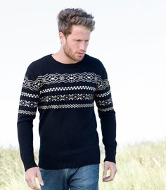 MENS FAIR ISLE CREW NECK JUMPER