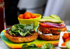 BBQ Sweet Potato Veggie Burgers