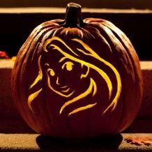 Rapunzel Pumpkin Carving Template