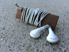 A simple hardwood accessory to keep your headphones untangled.