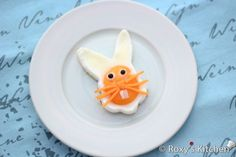 Easter Bunny Face Made Out Of Eggs: Cutest Breakfast for Kids