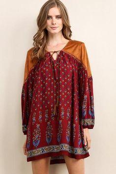 Fall Boho Shift Dress