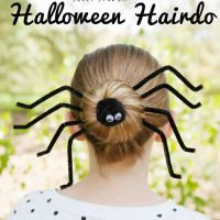How-To: Silly Spider Halloween Hairdo