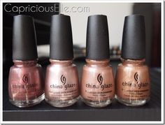 Rose gold nail polish. I want these colors! Pretty please with a cherry on top?