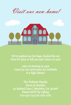 Housewarming Invitations Templates Cute Home Sweet Home Housewarming Invitations
