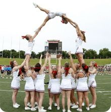 Cheerleading pyramid