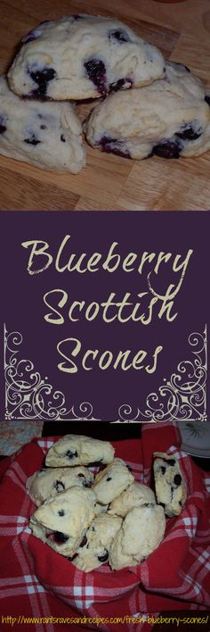 Fresh Blueberry Scottish Scones, a summer treat that can't be beat! #Best Blueberry Scottish Scones