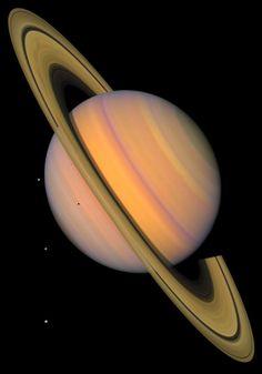 Saturn & 4 Moons