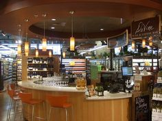 Whole Foods, Lincoln Park.  Wine bar within the store.