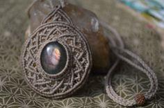 Labradorite macrame pendant by RamanaGems on Etsy