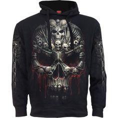 Spiral Mens Death Robe Hoody Black