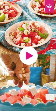 #Wassermelonensalat im Sommer - mehr brauche ich nicht. Er schmeckt nicht nur gut, sondern ist auch #kalorienarm.