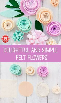 No April showers or mud puddles necessary for these lovely and easy-to-make spring felt flowers.