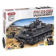 Oxford Military World War Series Tiger Tank Brick Block Toy Kid OM33013 709PCS #Oxford