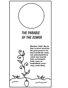 The Parable of The Sower Bookmark Print, color, glue on