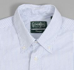 BUTTON-DOWN COLLAR SHIRT, STRIPED OXFORD :: HICKOREE'S