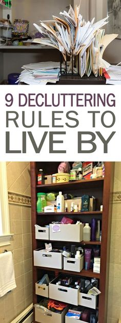 9 Decluttering Rules to Live By - 101 Days of Organization| Decluttering, Decluttering Ideas, Declutter and Organize, Organization, Organization Ideas #cleaning #clean #organize #organization