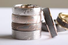Mokume for everyone, whether you like bold or softer tones. This gorgeous stack is going to Savvy and Sand in London