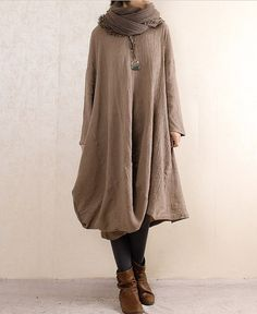 3-color Linen shirt Cotton shirt Loose blouse Long sleeve top coat sweater winter autumn spring C207 on Etsy, £47.96