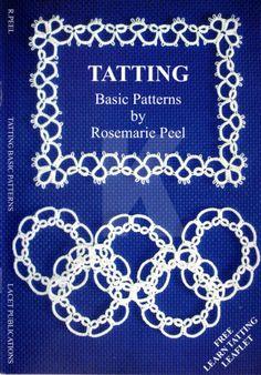Purchased in January - Tatting. Basic Patterns by Rosemarie Peel Shuttle Tatting Patterns, Needle Tatting Patterns, Lace Patterns, Sewing Patterns, Crochet Patterns, Crochet Doilies, Knit Crochet, Needle Tatting Tutorial, Lacemaking