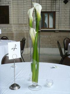 Simple Elegant Calla Lily Wedding Centerpieces Yet Just