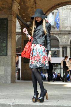 Blog al skirt leather jacket