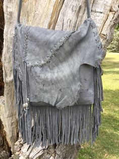 Handmade, hand cut fringed leather bag, crossbody, 5 pockets inside, 1 outside back pocket. Handmade Purses, Leather Bag, Elephant, Pockets, Blanket, Bags, Design, Handmade Bags, Purses