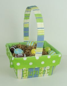 Personalized Easter Basket for Boys.  Super cute!  #Easter #Easterbasket #personalized
