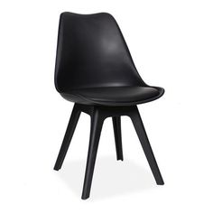 All Plastic Dining Chair. Perfect for any modern home interior. Plastic Dining Chairs, Modern Dining Chairs, Round Dining Table, Upholstered Dining Chairs, Contemporary Chairs, Contemporary Interior, Stylish Chairs, Chair Pads, Types Of Wood