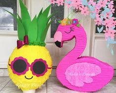 Discover recipes, home ideas, style inspiration and other ideas to try. Hawaiian Birthday, Luau Birthday, First Birthday Parties, Pink Flamingo Party, Flamingo Birthday, Luau Party, Birthday Party Decorations, Pineapple Pinata, Wallpaper Flamingo