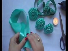 Большая роза из атласной ленты / Big rose of satin ribbon - YouTube