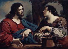 Christ and the Woman of Samaria / Cristo y la mujer de Samaria // c. 1620 // Guercino (Giovanni Francesco Barbieri) // Detroit Institute of Arts // #Jesus