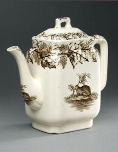 TRANSFER WARE Teapot