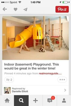 Would love an indoor playground in the basement!