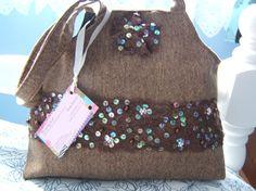 Tweed chocolate handbag £15.00