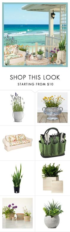 """""""by the beach"""" by flora-chn ❤ liked on Polyvore featuring interior, interiors, interior design, home, home decor, interior decorating, Potting Shed Creations, Picnic at Ascot, Therapy and Ballard Designs"""