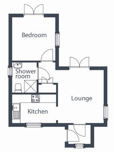 One Bedroom Tiny House Floor Plans Under 500 sq ft