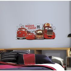 RoomMates RMK2556GM Cars 2 Friends to The Finish Peel and Stick Giant Wall Decals * You can find out more details at the link of the image. (Note:Amazon affiliate link)