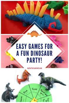 Here's 7 ROARsome dinosaur party games and activity ideas for a children's dinosaur birthday party. Girl Dinosaur Birthday, First Birthday Party Themes, Birthday Activities, Frozen Birthday Party, 3rd Birthday, Birthday Ideas, Dinosaur Party Games, Kids Party Games, Activity Ideas