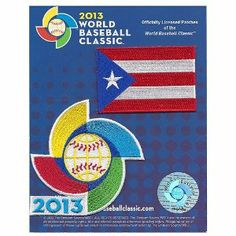 """2013 World Baseball Classic Sleeve Jersey Patch Pack Team Puerto Rico by Patch Collection. $14.95. Email us any questions you may have. Makes a great gift. Ships same day if purchased by 3pm CST Mon-Fri. Patch measures approximately at 3.5"""" wide X 3.5"""" tall. Officially Licensed By the WBC. This is the patch for the Puerto Rican Team for the 2013 World Baseball Classic. This patch is designed for commemorative, nostalgic display, and collection. The patch measures approximately ..."""