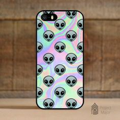 Alien Emoji Hologram Holographic *Style Case Cover for Apple iPhone 5/5s — Project Major