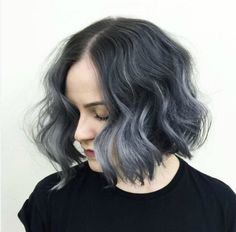 Wavy Gray Ombre Hair |Beautiful Gray Ombre Hair Ideas For Short Hair| Simple & Sexy Inspirations